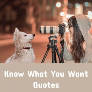 Know What You Want Quotes