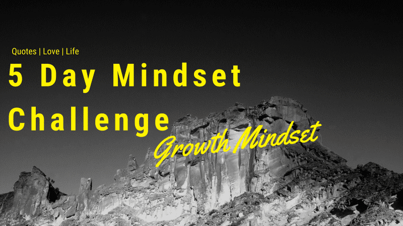 5 Day Mindset Challenge Growth for Success